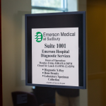 A sign showing the location of Emerson Primary Care of Sudbury.